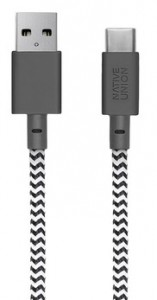 фото Кабель переходник Native Union Belt Cable USB-A to USB-C Zebra (3 m) (BELT-KV-AC-ZEB-3) #2