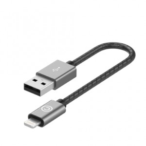 Кабель Lab.C Lightning Leather Cable A.L Grey (0.15 m) (LABC-510-GR)