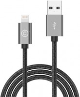 Кабель Lab.C Lightning Leather Cable A.L Space Grey (1.8 m) (LABC-511-GR)