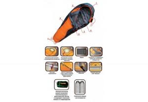 фото Спальный мешок Tramp Fargo оранжевый/серый L (4743131055469) #3