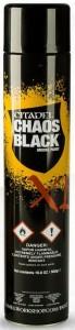 Краска-спрэй Games Workshop 'Chaos Black Spray XL' (9920999905306)