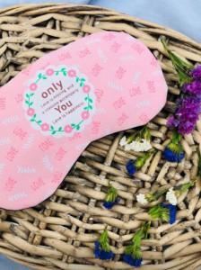 Подарок Маска для сна с гелем внутри Only You Love Розовый (top-576)