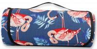 Подарок Водонепроницаемый коврик для пикника Фламинго Blue (top-539)