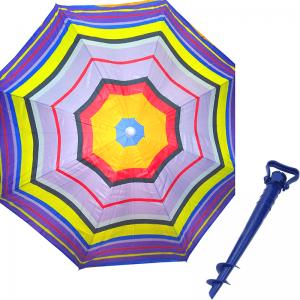 Комплект: Зонт пляжный фиолетовый 1.8 м с наклоном, Anti-UV, и Винт крепежный SS-Z-1