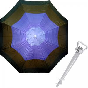 Комплект: Зонт пляжный коричневый 1.8 м с наклоном, Anti-UV, и Винт крепежный SS-Z-1