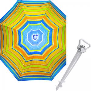 Комплект: Зонт пляжный оранжевый 1.8 м с наклоном, Anti-UV, и Винт крепежный SS-Z-1