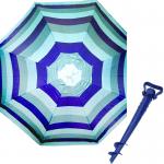 Комплект: Зонт пляжный в полоску 1.8 м с наклоном, Anti-UV, и Винт крепежный SS-Z-1