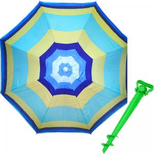 Комплект: Зонт пляжный зеленый 1.8 м с наклоном, Anti-UV, и Винт крепежный SS-Z-1