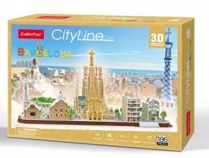 Трехмерная головоломка-конструктор CubicFun 'City Line Barcelona' (MC256h)