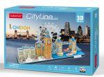 Трехмерная головоломка-конструктор CubicFun 'City Line London' (MC253h)
