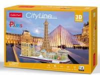 Трехмерная головоломка-конструктор CubicFun 'City Line Paris' (MC254h)
