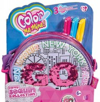 Сумочка Simba Toys 'Колор Ми Майн. Хамелеон круглая, 3 маркера, 16 см' (6374262)