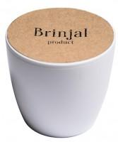 Подарок ГорщикBrinjal 'EcoStick' для рослин, зґрунтомі добривом (білий)