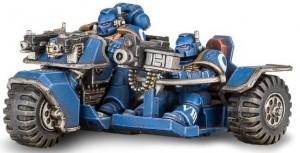 фигурка Фигурка для сборки Games Workshop 'Warhammer. Space Marine Attack Bike' (99120101030)