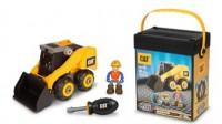 Игрушка-конструктор Toy State 'Machine Maker САТ Мини погрузчик 18 см с отверткой' (80906)