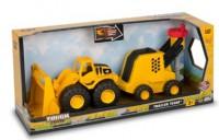Минитрейлер Toy State 'Погрузчик и буровая установка 31 см' (82093)