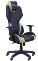 Кресло VR Racer Zeus черный, PU черный-зеленый (515410)