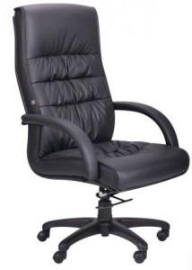 Кресло Орхидея НВ, кожзам черный 643-B HI-BACK BLACK PU+PVC HL014 MECH (031136)