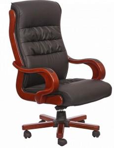 Кресло Президент 02, кожзам черный 6243 Black PU+PVC (031135)