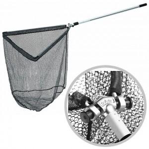 Подсак раскладной DAM GUMMI Landing Net с прорезиненной сеткой 2.40м  60см х 60см  (8203240)