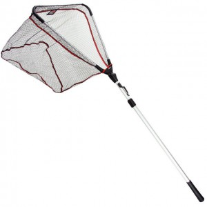 Подсак раскладной DAM Landing Net Shadow ABS Graphite 1.50м голова 50см х 50см, сетки 8мм (8236150)