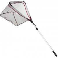 Подсак раскладной DAM Landing Net Shadow ABS Graphite 2.40м голова 60см х 60см, сетки 8мм (8236240)