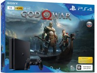 Приставка PlayStation 4 Slim 1TB (CUH-2108B) Bundle + игра God of War NEW (PS4)