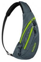Рюкзак-сумка NatureHike 'Chest Bag' 6 л, Grey - lime green (NH23X008-K)