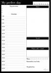 Ежедневник LifeFLUX 'Daily Planner My perfect day', классический (LFDAEPBW006)