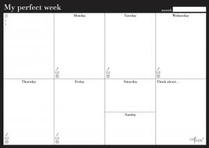 Еженедельник LifeFLUX 'Weekly My perfect day', классический (LFWEEPBW005)