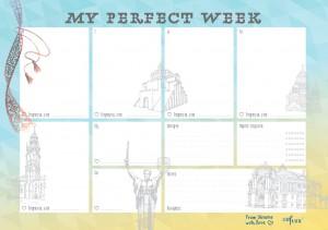 Еженедельник LifeFLUX 'Weekly My perfect day', вышиванка (LFWEEPEM010)