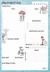 Ежедневник LifeFLUX 'Daily Planner My perfect day', синий (LFDAEPTU006)