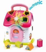 Развивающая игрушка Smoby Toys Cotoons™ Домик с сортером со звуковым и световыми эффектами розовая (110402)
