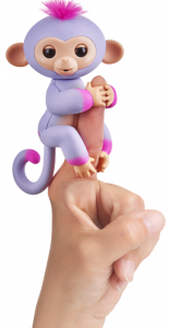Интерактивная двухцветная обезьянка WowWee Fingerlings фиолетово-розовая Синди (W37204/3721)