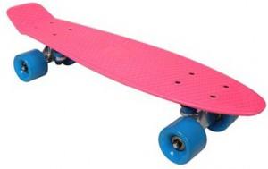 Скейтборд Awaii SK8 Vintage 22.5' розовый, до 100кг (3429322121540)
