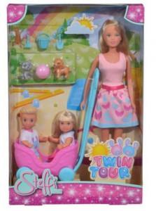 Кукольный набор Simba Штеффи Эви и Тимми 'Прогулка двойни' (5733229)