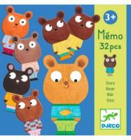 Настольная игра Djeco 'Мемо Мишки ' (DJ08112)