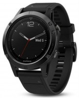 Спортивные часы Garmin Fenix 5 Sapphire Black with Black Band (010-01688-11)