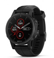 Спортивные часы Garmin Fenix 5S Plus Sapphire Black with Black Band (010-01987-03)