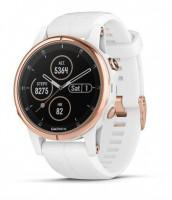 Спортивные часы Garmin Fenix 5S Plus Sapphire Rose Gold-tone with Carrara White Band (010-01987-07)