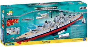 Конструктор COBI 'World Of Ships Линкор Бисмарк' 1974 деталей (COBI-4810)