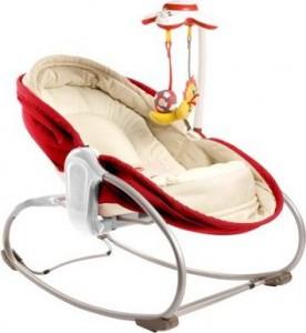 Кресло-кроватка-качалка 3 в 1 Tiny Love 'Мамина любовь' красное (1801006830)