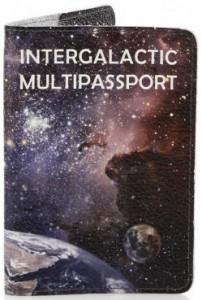 Подарок Кожаная обложка на паспорт StVeles 'Галактика' (156-15510506)