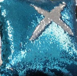 фото Подушка антистресс с пайетками-перевертышами, голубая (98-9721004) #2
