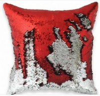 Подарок Подушка антистресс с пайетками-перевертышами, красная (98-9721007)