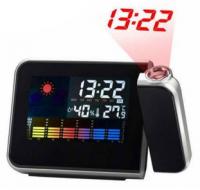 Подарок Часы c проекцией, календарем, термометром (111-10821369)