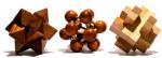 Подарок Набор из 3 головоломок из бамука разного уровня сложности (MT 6850)