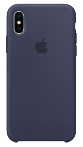 Чехол Apple iPhone X Silicone Case - Midnight Blue (MQT32)
