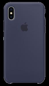 Чехол Apple iPhone X Silicone Case - Midnight Blue