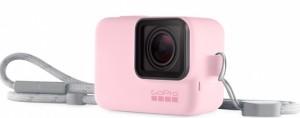 Силиконовый чехол с ремешком GoPro Sleeve & Lanyard Pink (ACSST-004)